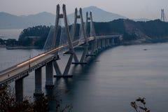 Geoga-Hängebrücke Lizenzfreies Stockfoto