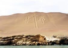 Geoglyph on a coastal shore Stock Image