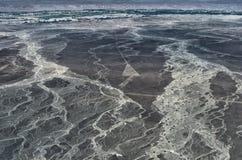 Geoglyphs και γραμμές στην έρημο Nazca Περού στοκ εικόνες