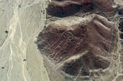 Geoglyphs and lines in the Nazca desert.  Peru Stock Images