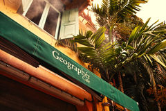 Geograf kawiarnia Obrazy Royalty Free