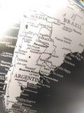 Geografi av världskartan i svartvitt fotografering för bildbyråer
