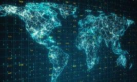 Geografi och kommunikationsbegrepp royaltyfri bild