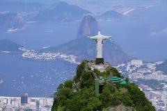 Geografia da zona sul de Rio Imagens de Stock