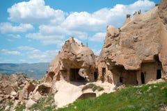 A geografia exótica de Cappadocia, Goreme, cone de Turkey foto de stock royalty free