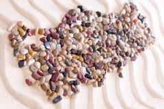 Geografia Turcja Tworzył z kamieniami na piasku Obrazy Stock