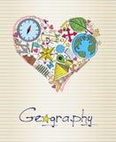 Geografie in Form des Herzens Lizenzfreie Stockfotos