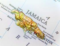 Geografische dichte kaart van land Jamaïca Royalty-vrije Stock Foto's