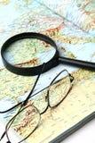 Geografische kaart Stock Afbeeldingen