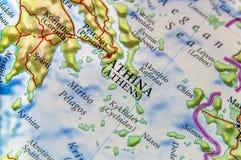 Geografisk översikt av för Grekland för europeiskt land Aten stad royaltyfri foto
