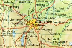 Geografisk översikt av Tyskland för europeiskt land med den Munich staden royaltyfri bild