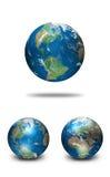 geografisk verklig jordklotillustration för data stock illustrationer