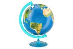 Geografiskt jordklot av planetjord, tolkning 3D royaltyfri illustrationer