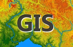 Geographic information systems, gis, cartography and mapping. Web mapping. GIS day stock illustration