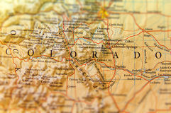 Geographic map of Colorado state close royalty free stock photo