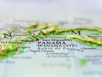 Geographic map of country Panama and Panama city Royalty Free Stock Photography