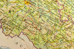 Geographic map of European country Czech Republic with important cities Stock Photo