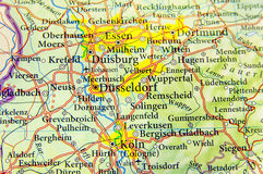Geographic map of European country Germany with important cities Royalty Free Stock Image