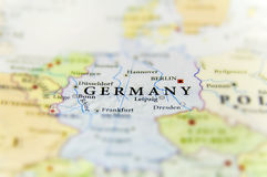 Geographic map of European country Germany with important cities Stock Photo
