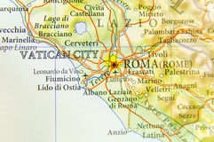 Geographic map of European country Italy with Rome capital city. 1 Royalty Free Stock Photo