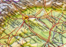 Geographic map of European country Italy with Torino city Stock Image