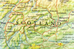 Geographic map of European country Scotland with important cities Stock Photos