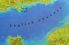 Geographic map of European country UK with English Channel Stock Images
