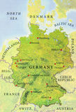 Geographic map of European Germany country map Stock Photography