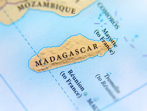 Geographic map of Madagascar country with important cities Royalty Free Stock Photography