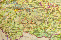 Free Geographic Map Of European Country Czech Republic With Important Cities Royalty Free Stock Photography - 94258977