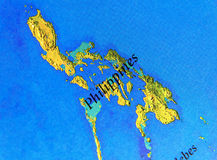Geographic map of Philipines with important cities Royalty Free Stock Photo