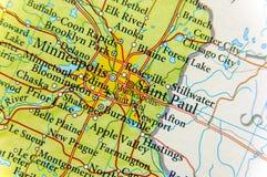 Geographic map of Saint Paul close Stock Photo