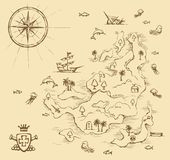Geographic Map. Vector Drawing Royalty Free Stock Image