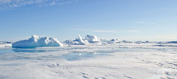 Geographic North Pole stock photo