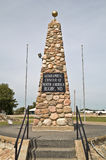 Geographical Center of North America. In Rugby, North Dakota royalty free stock photography