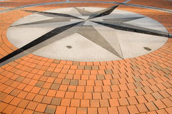 The geographical centre of Europe in Lithuania. An image of a Brick Compass walkway Stock Images