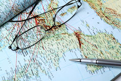 Geographical map Royalty Free Stock Images