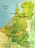 Geographische Karte der Karte des europäischen Landes Lizenzfreies Stockbild