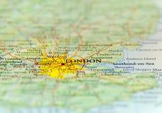 Geographische Karte des europäischen Landes Großbritannien mit Hauptstadt Londons Lizenzfreies Stockfoto