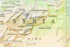 Syrien Karte Mit Städten.Geographische Karte Von Syrien Mit Wichtigen Städten Stockbild