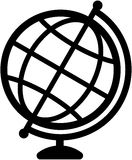 Geography earth globe icon -  illustration Stock Images
