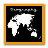 Geography educaton black board Royalty Free Stock Photos