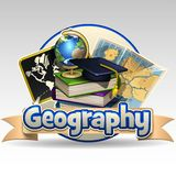 Geography icon. Illustration of geography icon with books Royalty Free Stock Photo