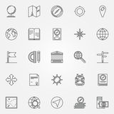 Geography icons set Royalty Free Stock Image