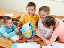 Geography lesson Stock Photo