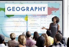 Geography Map World Climate Details Concept royalty free stock photos