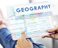 Geography Map World Climate Details Concept Royalty Free Stock Images