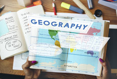 Geography Map World Climate Details Concept Stock Photo
