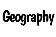 Geography stamp typographic stamp. Geography stamp. Typographic sign, stamp or logo Stock Photo