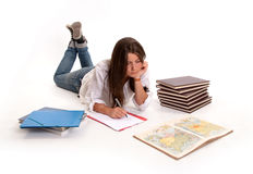 Geography student Royalty Free Stock Photography